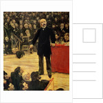 Georges Clemenceau Making a Speech at the Cirque Fernando by Jean Francois Raffaelli