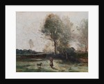 Landscape or, Morning in the Field by Jean Baptiste Camille Corot