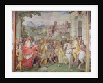 Charles V with Alessandro Farnese at Worms by Taddeo & Federico Zuccaro