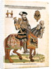 Equestrian portrait of Charles V in armour by Hans Liefrinck