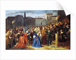 Scene of Confrontation by Louis Boulanger