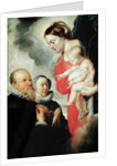 Madonna and Child with the donors Alexandre Goubeau and his wife Anne Antoni by Peter Paul Rubens