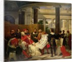 Pope Julius II ordering Bramante, Michelangelo and Raphael to construct the Vatican and St. Peter's by Emile Jean Horace Vernet