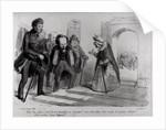 Dumas, Hugo et Balzac seeking their admission to the French Academy by Benjamin Roubaud
