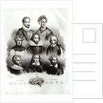 Famous Authors by Jacques Francois Gauderique Llanta