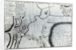 Field Plan for the Battle of Arques by French School