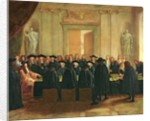 The Seal Held by Louis XIV before Members of the State Council and the Court of Appeal in 1672 by French School