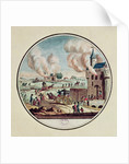 The Pillage and Destruction of Chateaux and the Emigration of Princes and Courtiers in July 1789 by French School