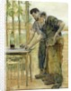 The Blacksmiths by Jean Francois Raffaelli