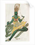Costume design for Nijinsky for his role as the 'Blue God' by Leon Bakst