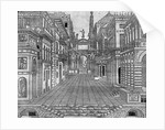 Set design for a tragic scene by Sebastiano Serlio