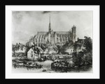 View of the Cathedral of Notre Dame, Amiens by Eugene Balan