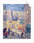 Building Site in Paris, quai de Passy by Maximilien Luce