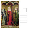 St. Catherine of Alexandria, St. Mary Magdalene and St. Margaret of Antioch by Master of the Trebon Altarpiece