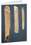 Three decorated bones by Prehistoric