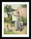 Woman Hanging up the Washing by Camille Pissarro