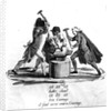 The Three Orders, forging the New Constitution on an Anvil by French School