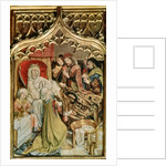The St. Elizabeth Altarpiece, detail depicting the birth of St. Elizabeth by Master of the Legend of St. Elizabeth
