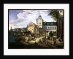 Market on the Banks of a River by Mathys Schoevaerdts