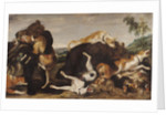Bear Hunt or, Battle Between Dogs and Bears by Paul de Vos