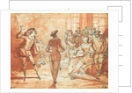Theatrical Scene by Claude Gillot