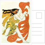 Costume design for a bacchante in 'Narcisse' by Tcherepnin by Leon Bakst