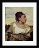 Young Orphan in the Cemetery by Ferdinand Victor Eugene Delacroix