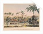 Village of Matavae, Tahiti by French School