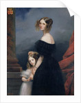 Portrait of Anne-Louise Alix de Montmorency, with her daughter by Claude-Marie Dubufe