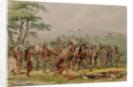 Mandan Archery Contest by George Catlin