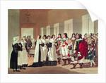 Meeting between Louis XIII and Marie-Louise Motier de la Fayette at l'Hotel-Dieu, Paris by Hippolyte Lecomte