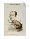Caricature of Baron Georges Eugene Haussmann as a Beaver by French School