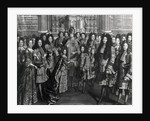 Marriage of Louis de France, duke of Bourgogne with Marie Adelaide de Savoie by French School