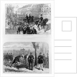 Entry of the German troops into Paris, 2nd March 1871 by English School