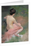 Female Nude by Jules Ernest Renoux