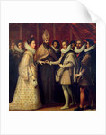The Marriage of Catherine de Medici and Henri II by Jacopo Chimenti Empoli