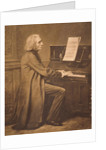 Franz Liszt at the Piano by Unknown