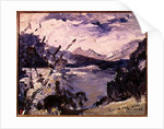 Lake Walchen Surrounded by Mountains by Lovis Corinth