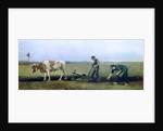Labourer and Peasant Planting Potatoes by Vincent van Gogh