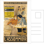 Poster advertising 'L'Assommoir' by M.M.W. Busnach and O. Gastineau by Theophile Alexandre Steinlen