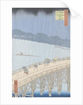 Sudden Shower on Ohashi Bridge at Ataka by Ando or Utagawa Hiroshige