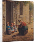 Feeding the Young by Jean-Francois Millet