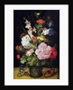 Flowers in a Vase by Roelandt Jacobsz. Savery