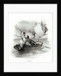 Alphonse de Lamartine and Elvire on the Lake at Bourget, engraved by Alfred Lemercier by Victor Adam
