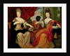 Portrait of Francoise-Marie de Bourbon and Louise-Francoise de Bourbon by Philippe Vignon
