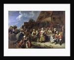 A Village Banquet by Gillis van Tilborgh