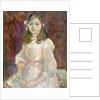 Portrait of Julie Manet Holding a Book by Berthe Morisot
