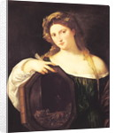 Allegory of Vanity, or Young Woman with a Mirror by Titian
