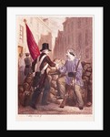 A Worker Sharing his Bread with a Student Carrying a Red Flag by Georges Alexandre Fischer