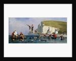 Bathing at Etretat by Eugene Modeste Edmond Lepoittevin